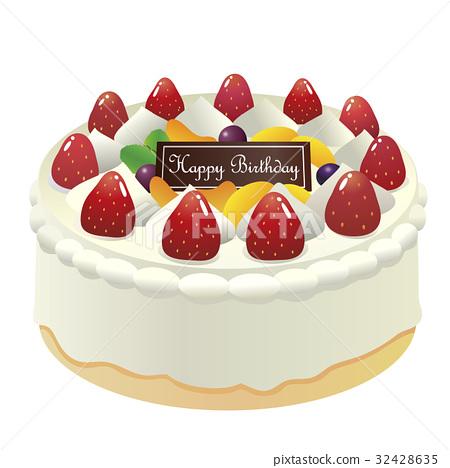 生日裝飾孔蛋糕2 32428635
