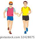 视障者 马拉松赛跑 人 32428675