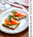 Smoked Salmon and Pumpernickel Snack 32429174