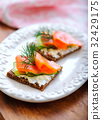 Smoked Salmon and Pumpernickel Snack 32429175