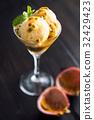 Passion Fruit Ice Cream 32429423