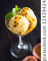 Passion Fruit Ice Cream 32429424