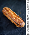 Chocolate Eclair Close Up 32429433