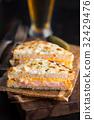 Croqu Monsieur Sandwich Dinner  32429476