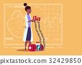 Female Doctor Hold Defibrillator Medical Clinics 32429850