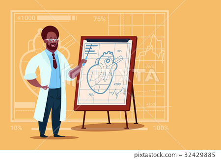 African American Doctor Cardiologist Over Flip 32429885