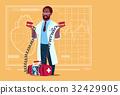 African American Doctor Hold Defibrillator Medical 32429905