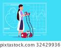 Female Doctor Hold Defibrillator Medical Clinics 32429936