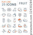 fruit, icon, vector 32430284