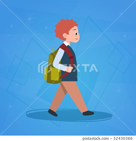 Boy Pupil Walking To School Schoolboy Small 32430366