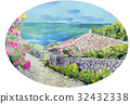 오키나와, 바다, 민가 32432338