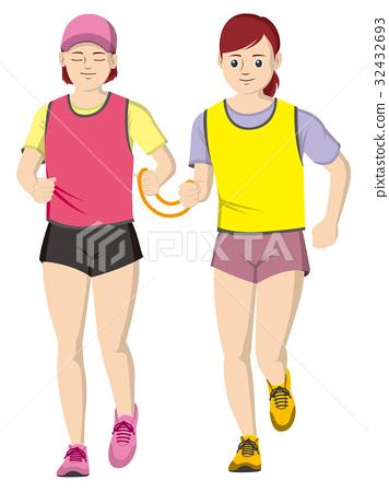视障者 马拉松赛跑 人 32432693