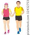 visually impaired person, marathon, person 32432753