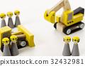 建築和建築工作土木工程工人娃娃建築工地 32432981