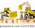 建築和建築工作土木工程工人娃娃建築工地 32432995