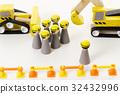 built, constructing, blue collar worker 32432996