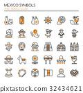 Mexico Symbols  32434621