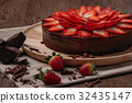 Chocolate cake with strawberry  32435147