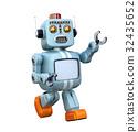 复古 机器人 行走 32435652