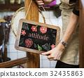 advertising, blackboard, calmness 32435863