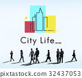 city, life, graphic 32437053