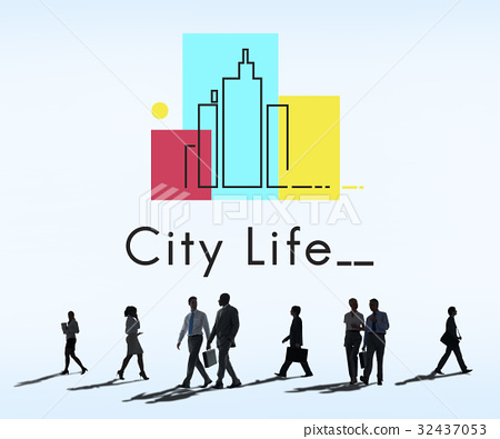 Urban Living City Lifestyle Society Graphic 32437053