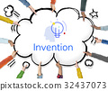 Creative Innovation Inspiration Light Bulb Graphic Word 32437073