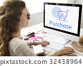 Showing Cart Trolley Shopping Online Sign Graphic 32438964