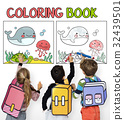 Coloring Book Education Talent Concept 32439501