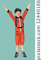 Little boy with astronaut dream job smiling 32440166