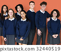 Group of Diverse Students Friendship Together Studio Portrait 32440519