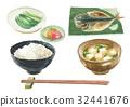 烤魚 早餐 金槍魚 32441676