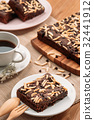 Delicious homemade chewy chocolate brownies 32441912