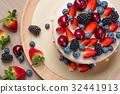Summer tart with custard cream 32441913