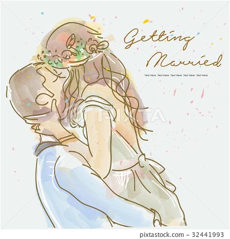 Bride, groom, wedding 32441993
