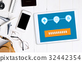 Travel plane ticket and hotel booking online 32442354