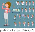 flat type pink blouse woman_sickness 32442772
