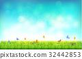 sky, butterfly, green 32442853