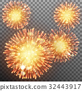 Festive firework effect. EPS 10 vector 32443917