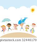 海水浴 沙滩 矢量 32446170