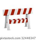 Red White Roadblock 32446347