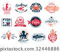 seafood set emblem 32446886