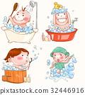 洗澡 插圖 淋浴 32446916