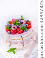 Pavlova with berry fruits 32447825
