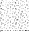baking tools seamless pattern background set 32447939