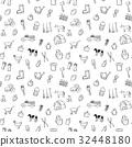 farm seamless pattern background set 32448180