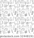sewing seamless pattern background 32448191