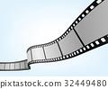 特寫電影 / 攝影 35mm 底片模板,向量3D元素。 32449480