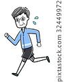 慢跑 矢量 老人 32449972