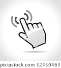 touch icon on white background 32450463